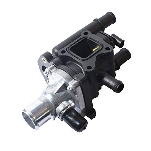 PeakCar Engine Coolant Thermostat Housing Assembly,Water Outlet Thermostat Housing Kit Compatible with 2009-2011 Aveo / Aveo5 2009 Pontiac G3 1.6L - 25189437 96984102 96980317 15-81766