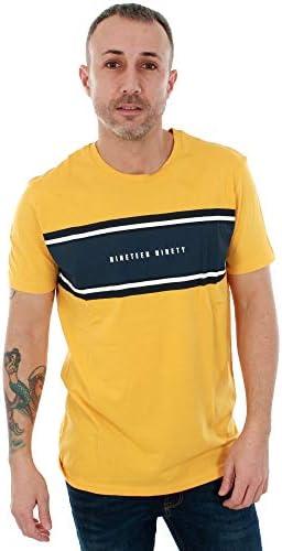 Jack & Jones Camiseta Manga Corta Hombre Cuello Redondo Amarilla