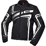 IXS Motorradjacke mit Protektoren Motorrad Jacke RS-400-ST 2.0 Sport Textiljacke schwarz/weiß 5XL, Herren, Sportler, Ganzjährig, Polyester