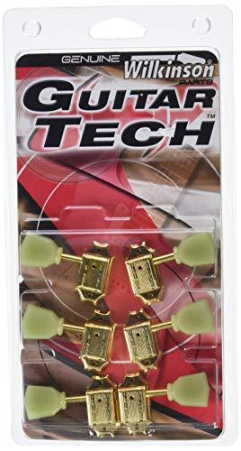 Guitar Tech wj44gd Deluxe Chitarra meccanica tulipano 3+ 3Wilkinson vertebrale Gold