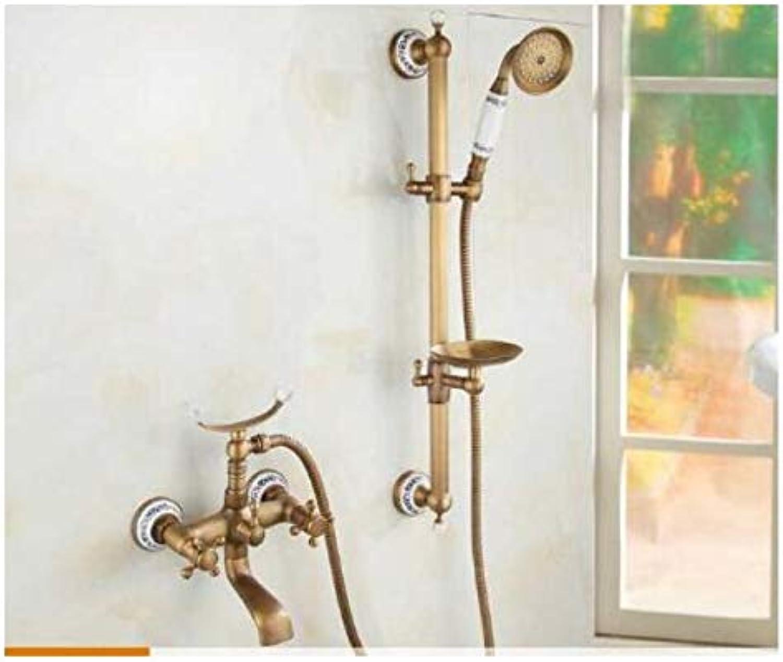 Badewanne Armaturen Antike Bronze Badezimmer Badewanne Mischbatterie Wasserhahn Neue Keramik Stil Hand Badewanne Wasserhahn Wand Montiert Dusche Armaturen,style8