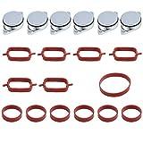 6 piezas 33 mm juntas de admisión kit con válvulas de giro y anillo de sellado, repuesto para BMW 330d 335d 525d 530d 635d 730d
