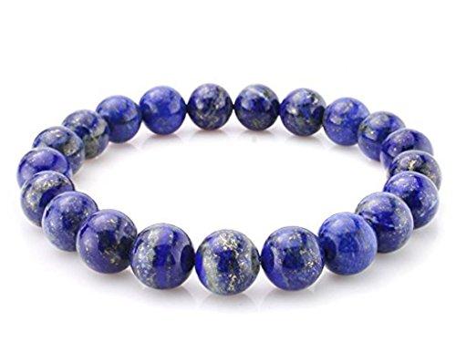 1pc Natural Blue Lapis Lazuli Gemstone Bracelet 7 inch Stretchy Chakra Gems Stones Healing Crystal Energy Quartz Rocks GB8-20