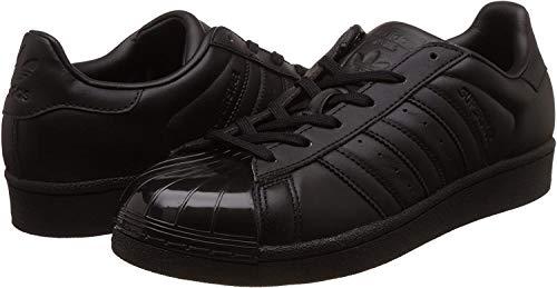 adidas Damen Superstar Glossy Toe Basketballschuhe, Schwarz (Cblack/cblack/ftwwht), 38 EU