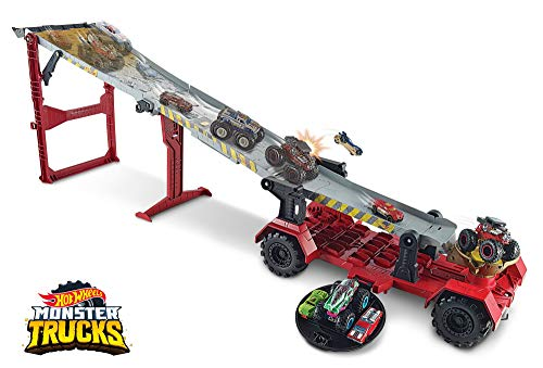 Hot Wheels - Monster Trucks Pista 2 in 1 Discesa...