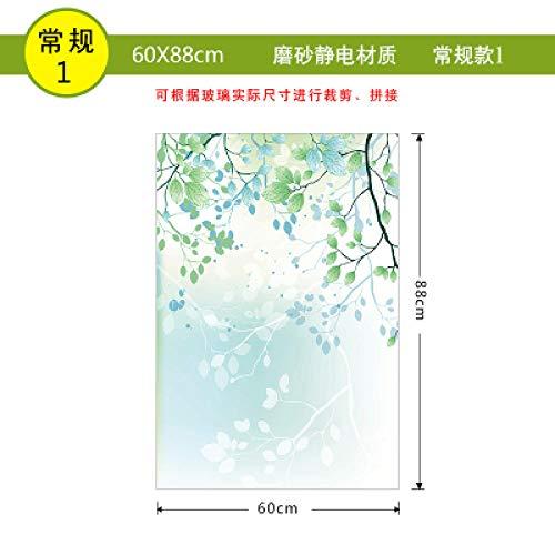 KUNHAN raamsticker Elektrostatisch matglas sticker kleine frisse transparante ondoorzichtige verduisterende ramen slaapkamer raamsticker film