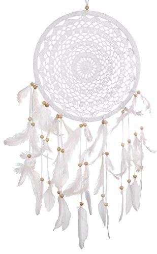 Woru Attrape-rêves - Capteur de rêves Beaux REVES Blanc, différents diamètres (27 cm)