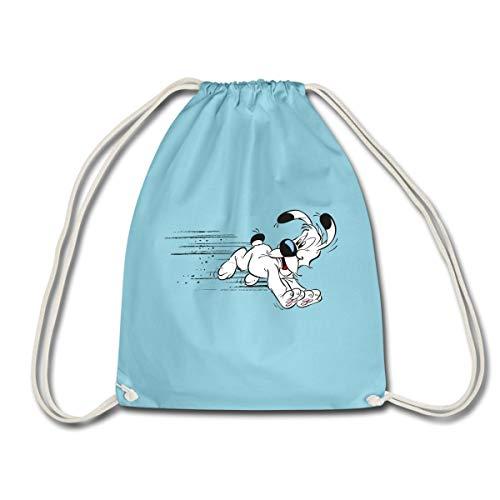 Spreadshirt Asterix & Obelix Idefix Hat Es Eilig Turnbeutel, Aqua