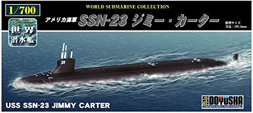 童友社 1/700 世界の潜水艦シリーズ No.4 SSN-23 ジミー・カーター プラモデル WSC-4
