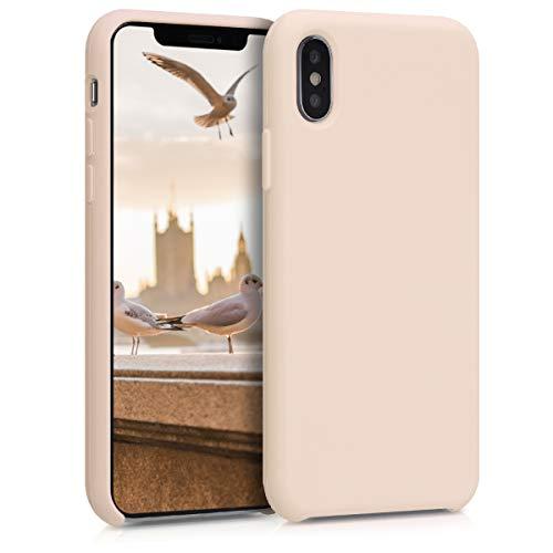 kwmobile Hülle für Apple iPhone XS - Hülle Handyhülle gummiert - Handy Hülle in Perlmutt