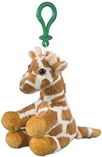 Stuffed Giraffe Clip Toy Keychain By Wild Life Artist, 5 inches