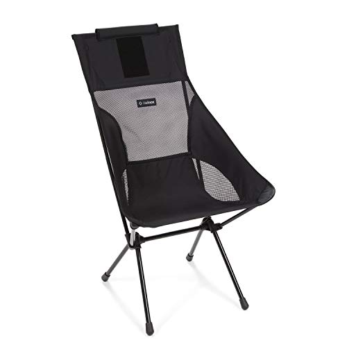 Helinox Sunset Chair Lightweight, High-Back, Compact, Collapsible Camping Chair, All Black