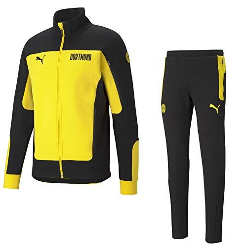 PUMA BVB Fanartikel Borussia Dortmund Trainingsanzug 20/21 Baumwolle, Größe:XXL, Farbe:Gelb