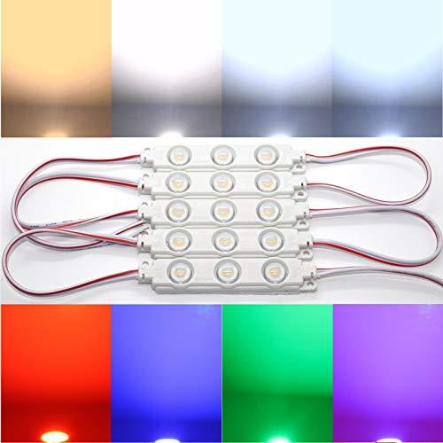 10x LED Module SMD Chip warmweiß Kaltweiß Lumen TOP Injektion (Kaltweiß 10000-12000K)