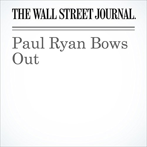Paul Ryan Bows Out cover art