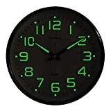 Plumeet Night Light Wall Clocks - 13 Inches Clock with Silent Non-Ticking Glowing Function - Good for Home Kitchen...