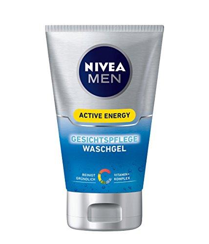 Nivea Men Active Energy Gesichtspflege Waschgel, 2er Pack (2 x 100 ml)