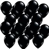 100 Piece 12 inch Latex Balloons Great for Graduations, Weddings, Birthdays, and Parties (Black)
