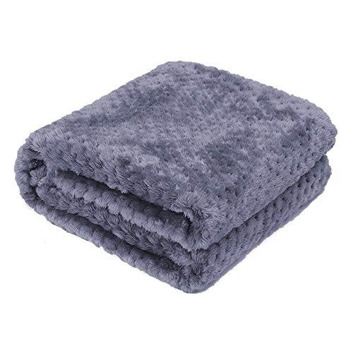 AcserGery Flauschige Hundedecke 100x120cm Super Softe Warme und Weiche Decke für Haustier Hundedecke Katzendecke (Lila)