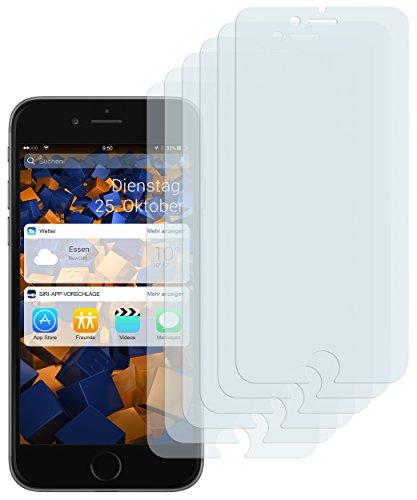 mumbi Schutzfolie kompatibel mit iPhone 7 Plus Folie, iPhone 8 Plus Folie klar, Bildschirmschutzfolie (6X)