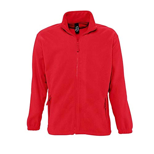 Sols - Fleecejacke 'North' bis Größe 5XL XL,Red