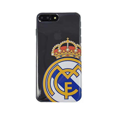 Wondee Global Services Carcasa Transparente con Escudo Color del Real Madrid Club de Futbol para iPhone 6 Plus