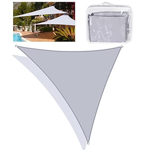 Tenda a Vela Triangolo , Tende Da Sole Impermeabile Balcone Giardino Protezione 95% UV Kit di Fissaggio,Corde Di Fissaggio, Parasole Ombreggiante Per Esterni, Patio, Giardino, Terrazza, Campeggio