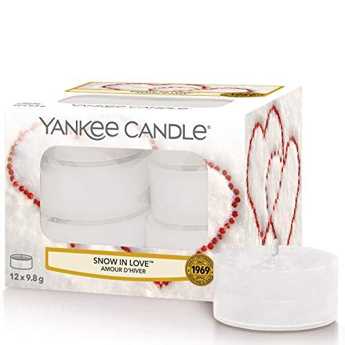 Yankee Candle candeline profumate tea light   Amore invernale   12 pezzi