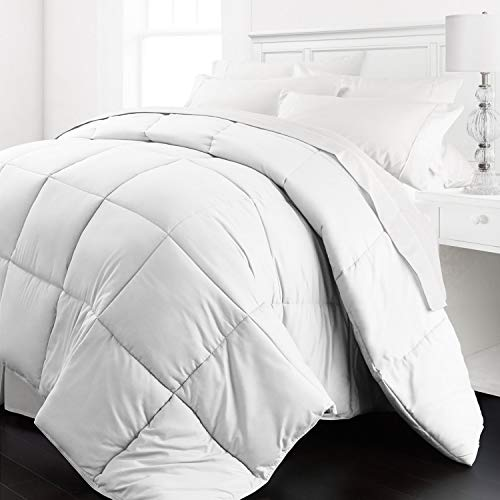 Beckham Hotel Collection - Lightweight All Season - Luxury Goose Down Alternative Comforter - Hotel Quality Comforter and Hypoallergenic  -Full/Queen - White