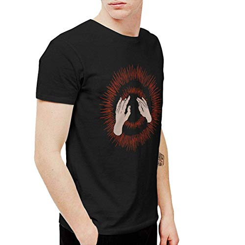 ANGSHI6 Camicie e T-Shirt Sportive Top e Bluse Godspeed You! Black Emperor Men's T Shirts Black