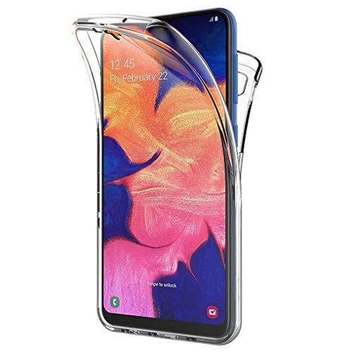 All Do Funda para Samsung Galaxy A50/A30s, 360 Grados Protección Diseñada, Transparente Ultrafino Silicona TPU Frente y PC Back Carcasa Belleza Original Funda de Doble Protección - Transparente