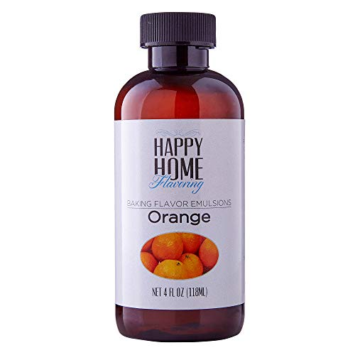 Happy Home Flavoring Natural Orange Baking Flavor Emulsion - Certified Kosher, 4 oz.