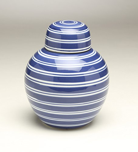 AA Importing 59956 Blue & White Ginger Jar