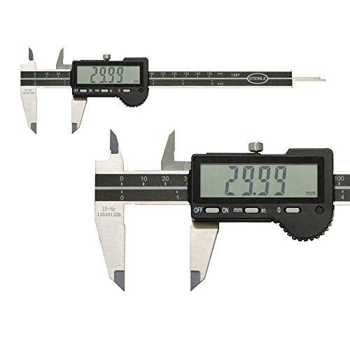 STEINLE 1307 Digital Messschieber 150 mm Ablesung: 0,01 mm Tiefenmaß: flach Aktionspreis gültig bis 31.05.2020