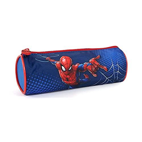 Astuccio Portapenne Spiderman per Bambino – Pratico Portatutto Blu Rosso per Bimbo Uomo Ragno – Astuccio Portamatite Marvel Spider Man per Asilo Scuola Elementare e Materna - 8x23x7 cm – Perletti