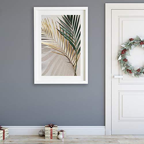 xinyouzhihi Golden Palm Leaf Leinwand Malerei Poster drucken Bild gedruckt auf Leinwand Wandkunst für Home Office Dekorationen 40x50cm Kein Rahmen