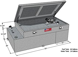 RDS Manufacturing Fuel and Water Combination Transfer Tank with Toolbox - 66-Gallon Fuel, 24-Gallon Water, Model# 73043