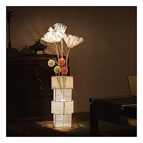 Indoor Vloerlamp rotan weven huis warme decoratie verticale slaapkamer woonkamer verlichting creatieve vakantie…