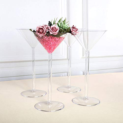 Efavormart 4 Sets of Wholesale Plastic Sturdy Centerpiece XL Martini Cup Stand Tabletop Decor Wedding Party Event Decoration