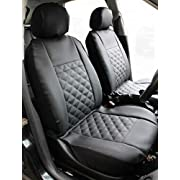 Carseatcover-UK Front Pair KNIGHTSBRIDGE LEATHER LOOK Car Seat Covers
