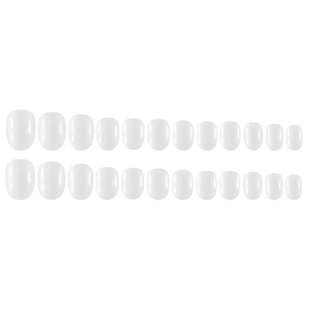 盲目お金ゴム減るDecdeal Decdeal ネイルチップ 24ピース 12異なるサイズ diy サロン ネイルアートツール 偽