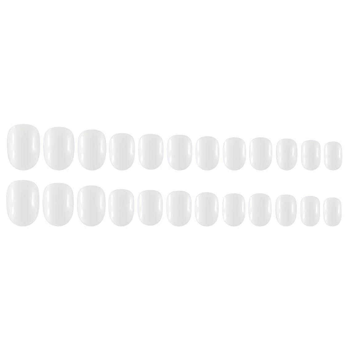 眠りカーペットヒロインDecdeal Decdeal ネイルチップ 24ピース 12異なるサイズ diy サロン ネイルアートツール 偽