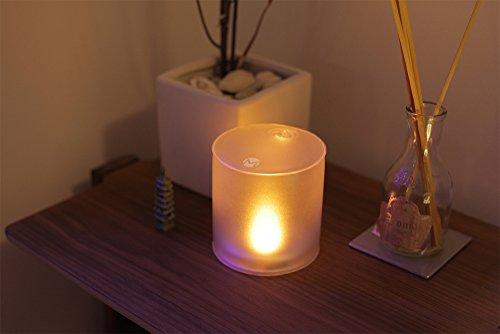 MPOWERDエムパワードキャンドル空気で膨らむソーラーライトこはく色のゆらぎの灯り