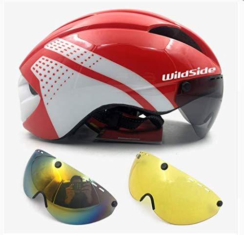 linfei Bicicleta TT Aero Casco Ciclismo Casco Carretera MTB Montaña Triatlón Integral...