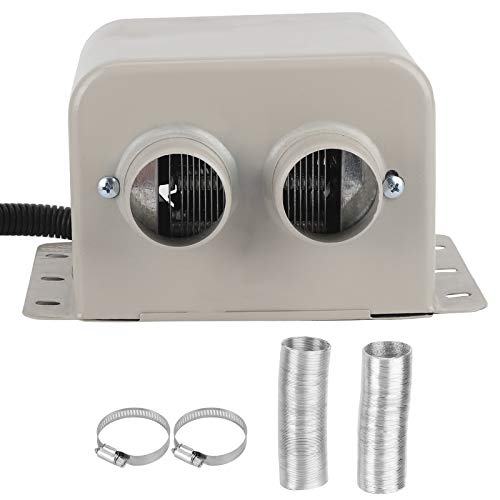 Calentador de coche, 24 V 600 W, 2 agujeros, calentador de coche, desempañador de parabrisas universal, desempañador de coche, calentador portátil adecuado para camiones, autobuses