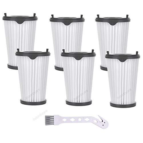 Rebirthcare 6 Stück CX7 Filter für AEG Ergorapido Staubsauger, Artikelnummer AEF150, Hepa-Filter Ersatzfilter Austauschfilter mit 1 Reinigungsbürste für alle CX7-2 Modelle