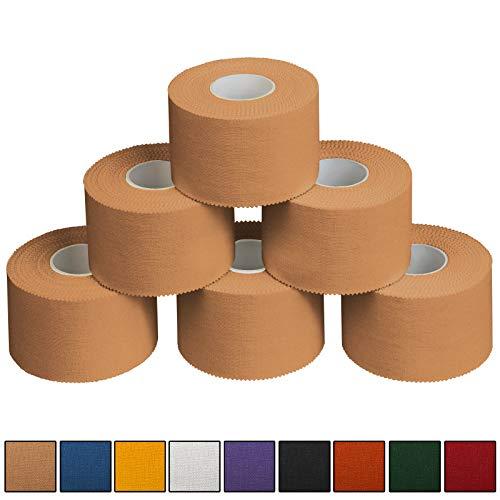 ALPIDEX 6 x Sport-Tape 3,8 cm x 10 m, Farbe:hautfarben