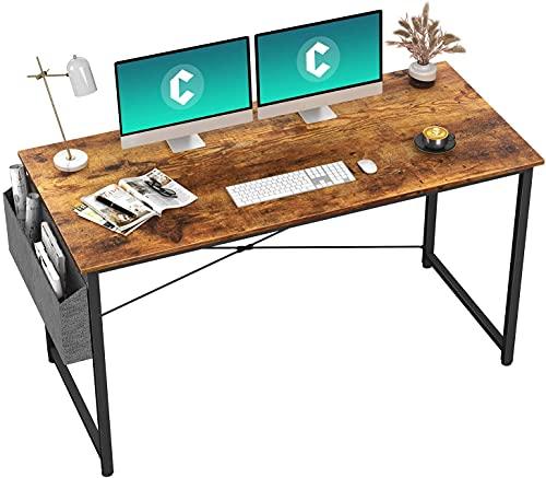 HOMIDEC Escritorio de Ordenador, Mesa de Oficina pequeño, Mesa de Ordenador con Bolsa de Almacenamiento, Fácil de Montar, Mesa de Escritura para Oficina en Casa, 140 x 60 x 75 cm(Vintage)