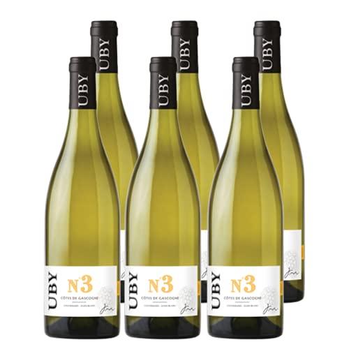 UBY Colombard Sauvignon Gascogne IGP No.3 Weißwein Frankreich 2020 trocken (6x 0.75 l)