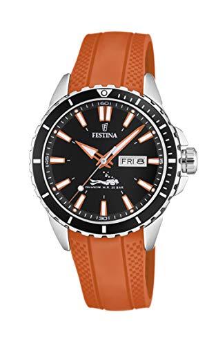 Festina Herren Analog Quarz Uhr mit PU Armband F20378/5